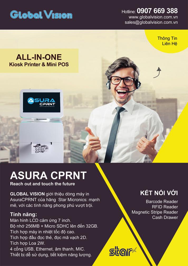Máy in hóa đơn Star Micronics Asura CPRNT- Máy POS Mini