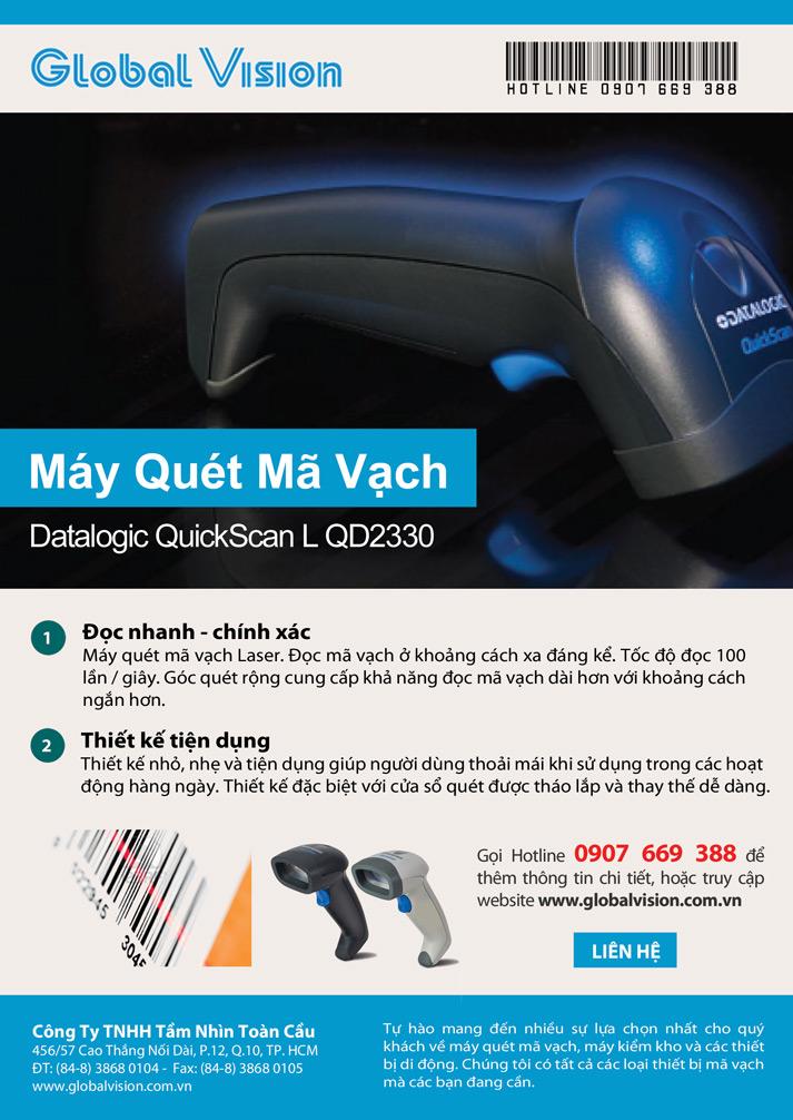 Máy Quét Mã Vạch Datalogic QuickScan® L QD2330-QD2300