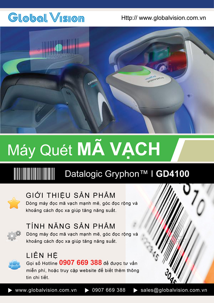 Máy Quét Mã Vạch Datalogic Gryphon I GD4100